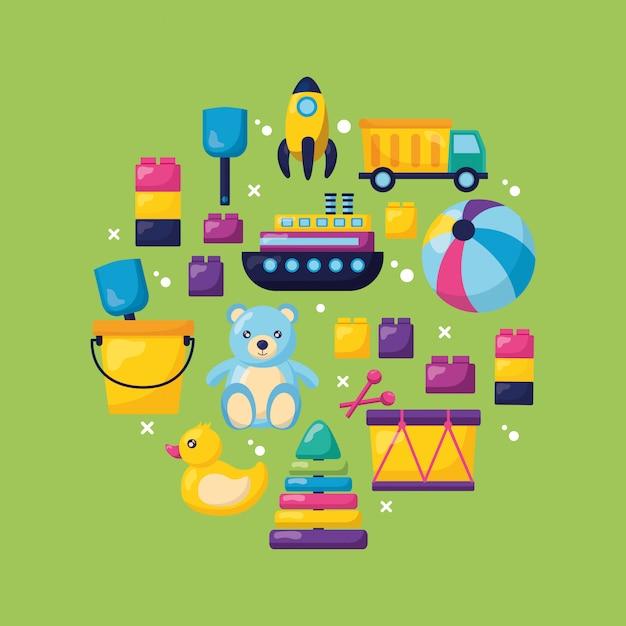 Kinderspielzeug design Kostenlosen Vektoren