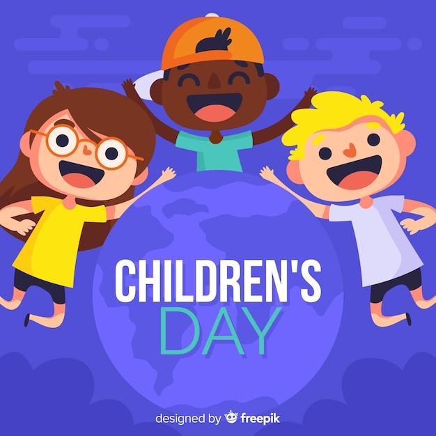 Kindertag hintergrund Kostenlosen Vektoren