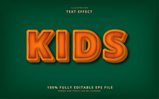 Kindertext-effekt Premium Vektoren