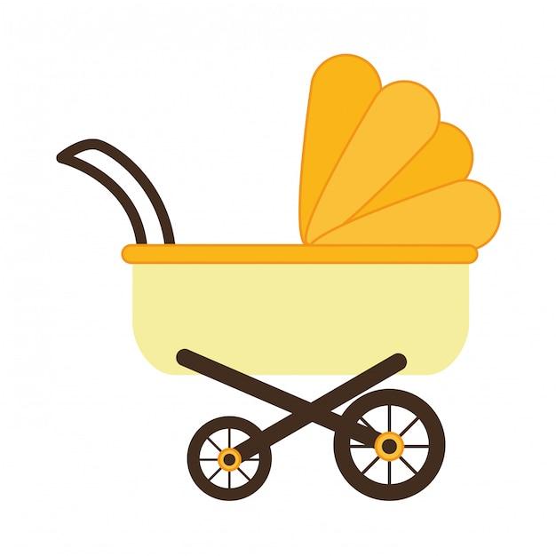 Kinderwagen-symbol Premium Vektoren