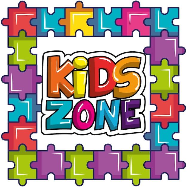 Kinderzone poster symbol Premium Vektoren