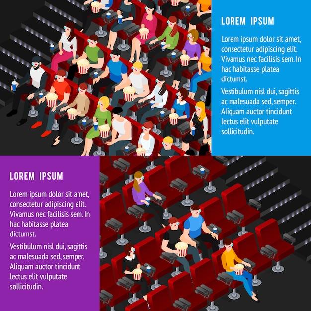 Kino-banner eingestellt Kostenlosen Vektoren