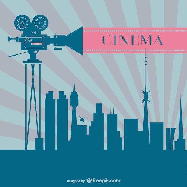 Kino-branche retro-hintergrund Kostenlosen Vektoren