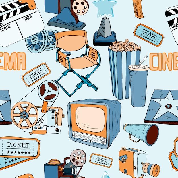 Kino farbe nahtlose muster Kostenlosen Vektoren