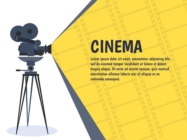 Kino festival plakat oder flyer vorlage. Premium Vektoren