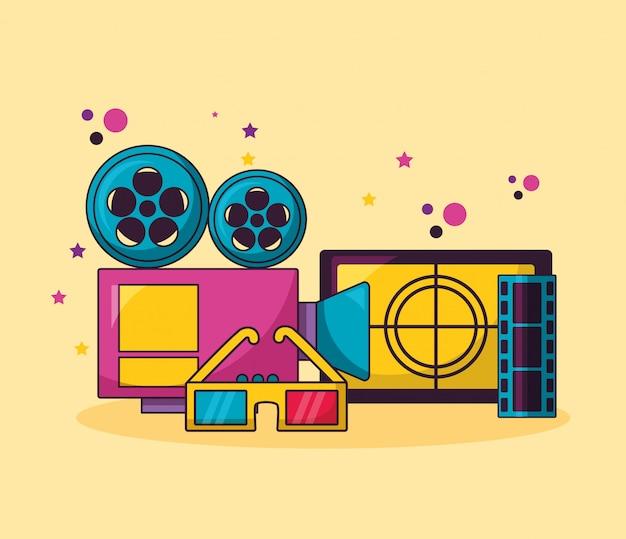 Kino film abbildung Kostenlosen Vektoren