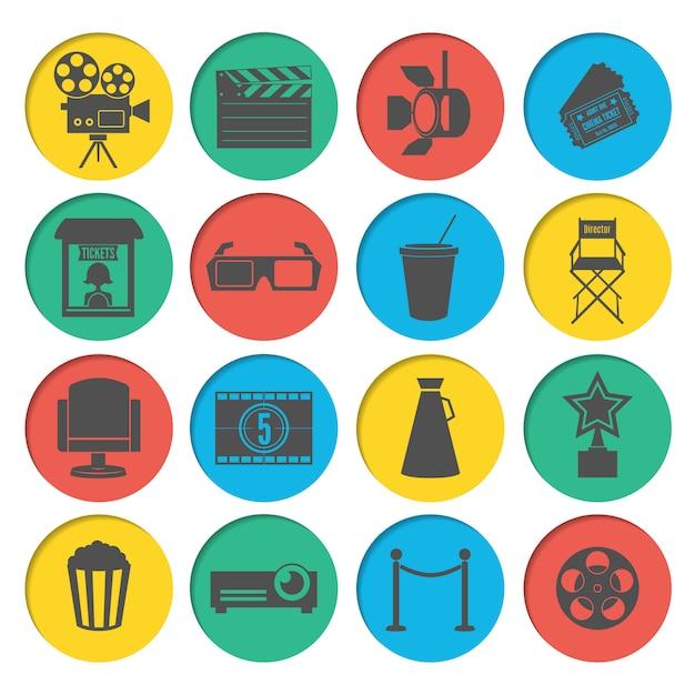 Kino icons set Premium Vektoren