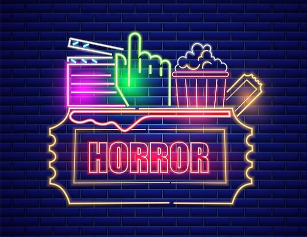 Kino neon-symbol Premium Vektoren