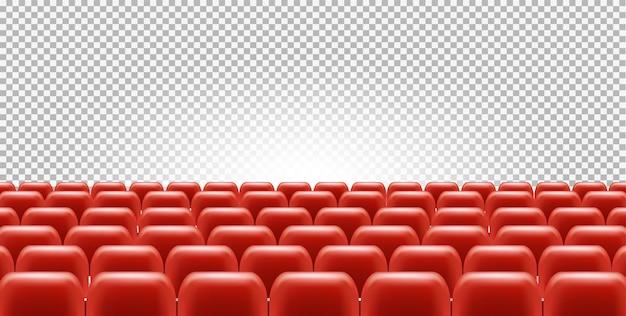 Kino- oder theatersitze in leerem saal Premium Vektoren