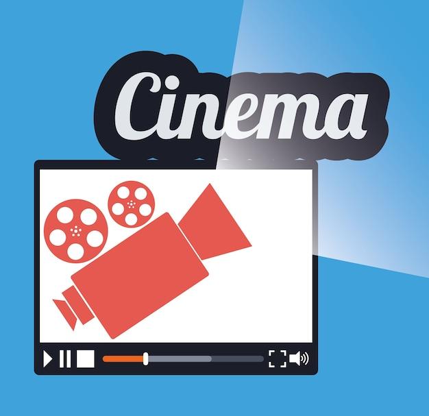 Kino Online Film Filmprojektor Download Der Premium Vektor