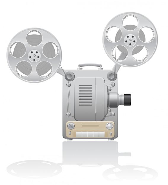 Kino-projektor-vektor-illustration Premium Vektoren