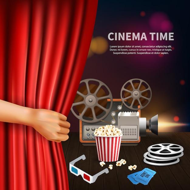 Kino realistisch Kostenlosen Vektoren