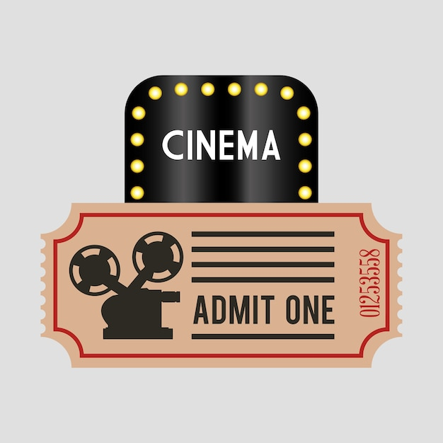 Kino ticket film Premium Vektoren