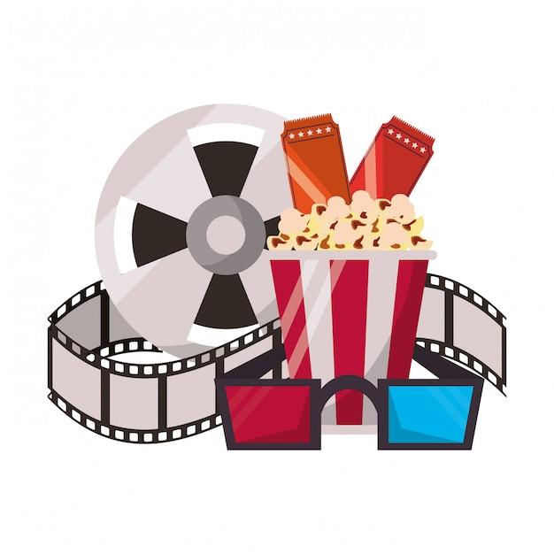 Kino und filme cartoons Premium Vektoren