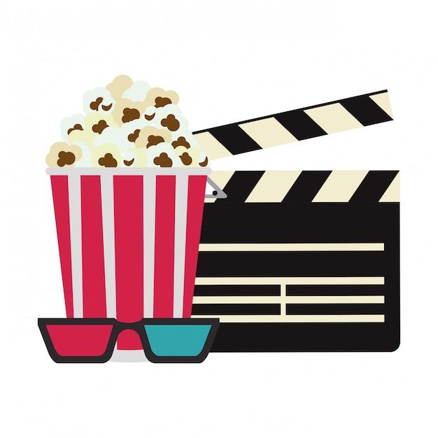 Kino- und filmkonzept Premium Vektoren