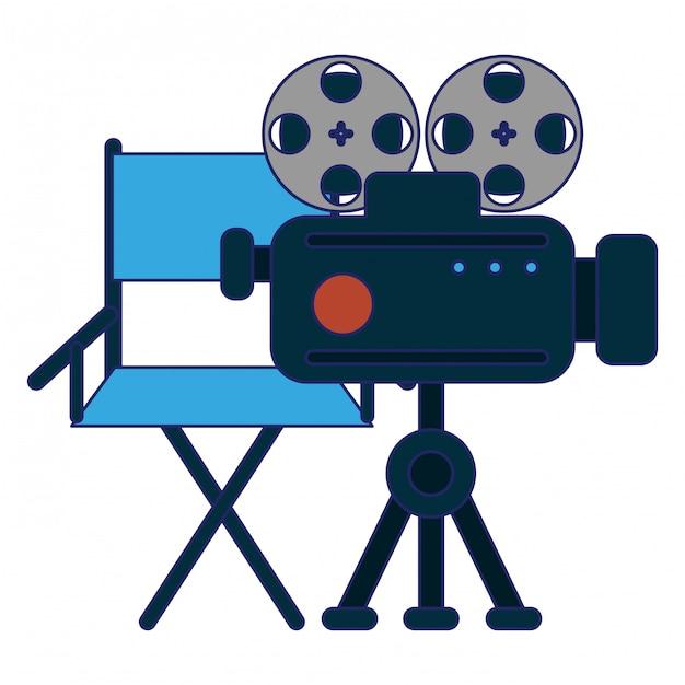 Kino- und filmunterhaltung Premium Vektoren