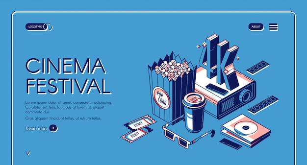 Kinofestival-filmzeit-unterhaltungsfahne Kostenlosen Vektoren