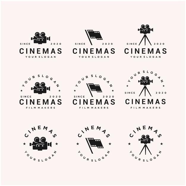 Kinofilm symbol logo design vorlage Premium Vektoren