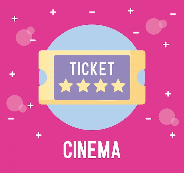 Kinokarte isoliert Premium Vektoren