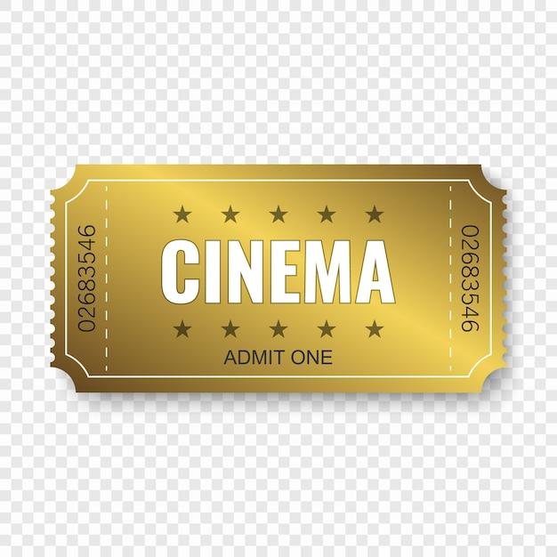 Kinokarte lokalisiert auf transparentem Premium Vektoren