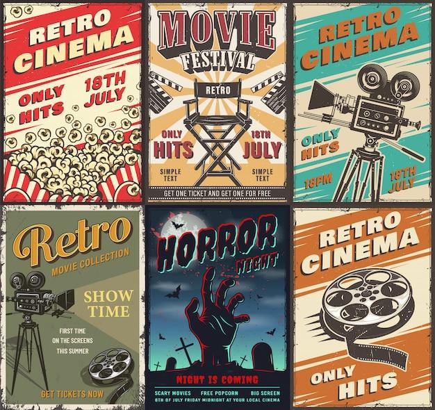 Kinoplakat Kostenlosen Vektoren