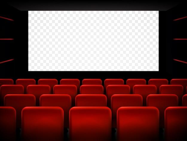 Kinopremierenplakat mit weißem bildschirm. hintergrund. Premium Vektoren