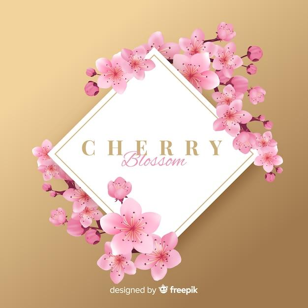 Kirschblüten hintergrund Kostenlosen Vektoren