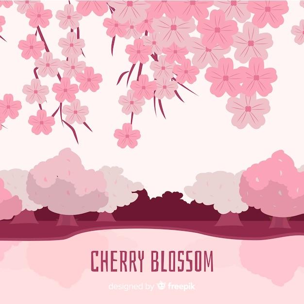 Kirschblüten spritzen