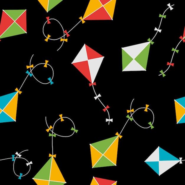 Kite seamless pattern hintergrund illustration Premium Vektoren