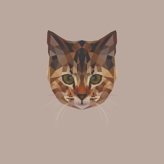 Kitten low poly Premium Vektoren