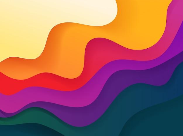Klarer abstrakter geometrischer hintergrund der farbe. fluid-vektorformen Premium Vektoren