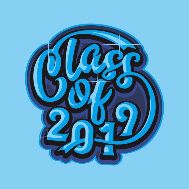 Klasse von 2019 Premium Vektoren