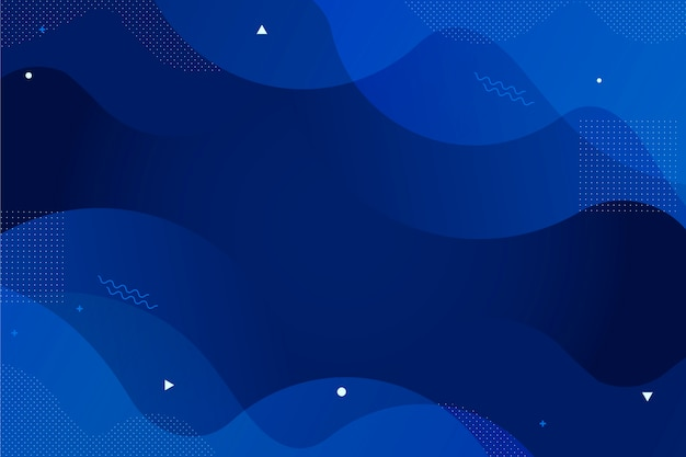 Klassische blaue tapetenauszugsart Kostenlosen Vektoren