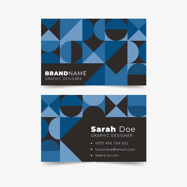 Klassische blaue visitenkarte des abstrakten designs Kostenlosen Vektoren