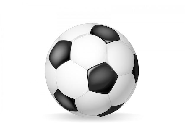 Klassische fußballvektornachricht lokalisiert. fußball lederball Premium Vektoren