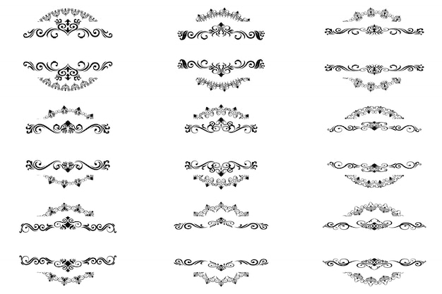 Klassische ornament frame vintage grenze Premium Vektoren