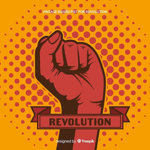 Klassische revolution-komposition im vintage-stil Kostenlosen Vektoren