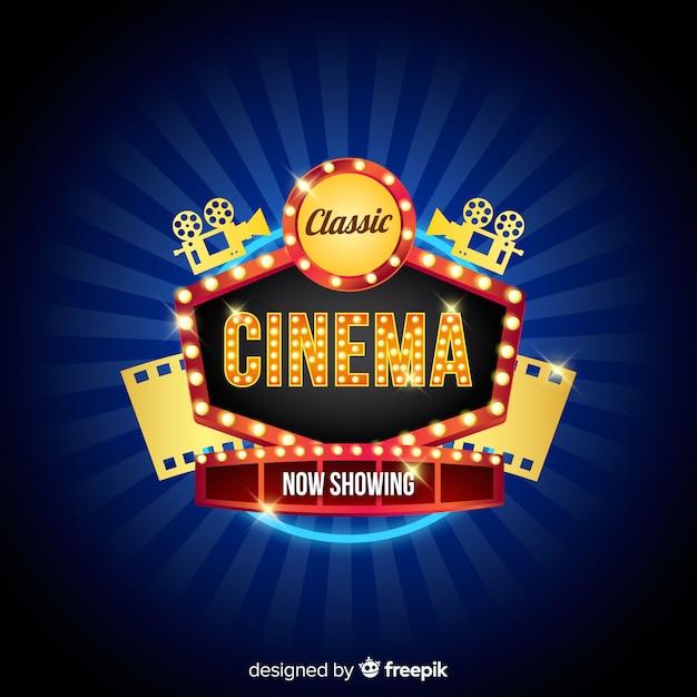 Klassischer kino-hintergrund Kostenlosen Vektoren