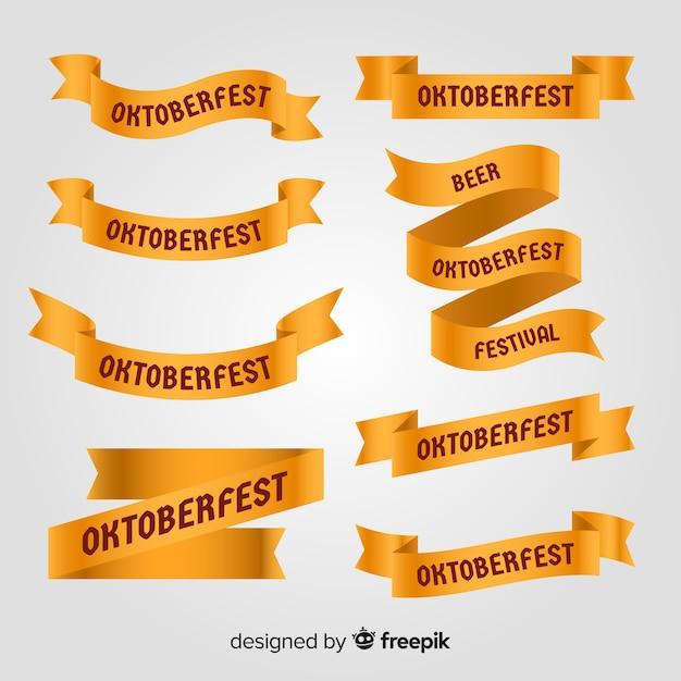 Klassischer satz oktoberfest-band mit flachem design Kostenlosen Vektoren