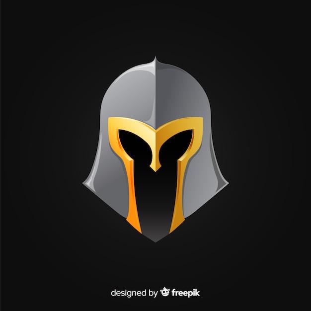 Klassischer spartanischer helm mit farbverlauf Kostenlosen Vektoren