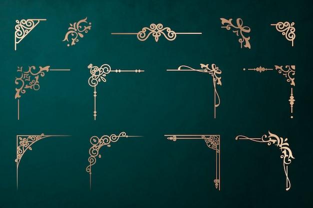 Klassisches bordüren-set Kostenlosen Vektoren