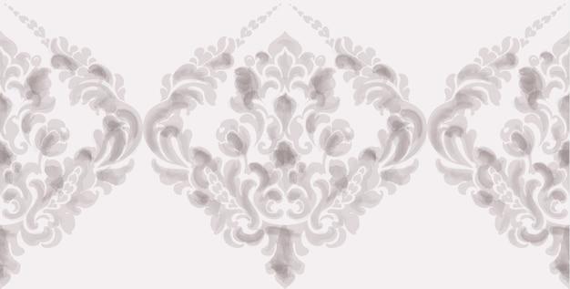 Klassisches elegantes verzierungsmusteraquarell. beige zarte farbtexturen Premium Vektoren