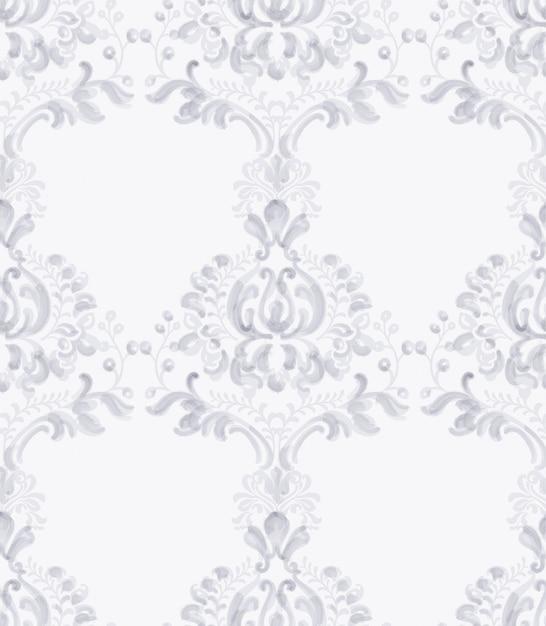 Klassisches elegantes verzierungsmusteraquarell. lavendel zarte farbtexturen Premium Vektoren