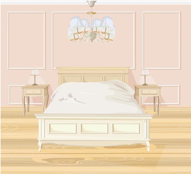 Klassisches schlafzimmer aquarell Premium Vektoren