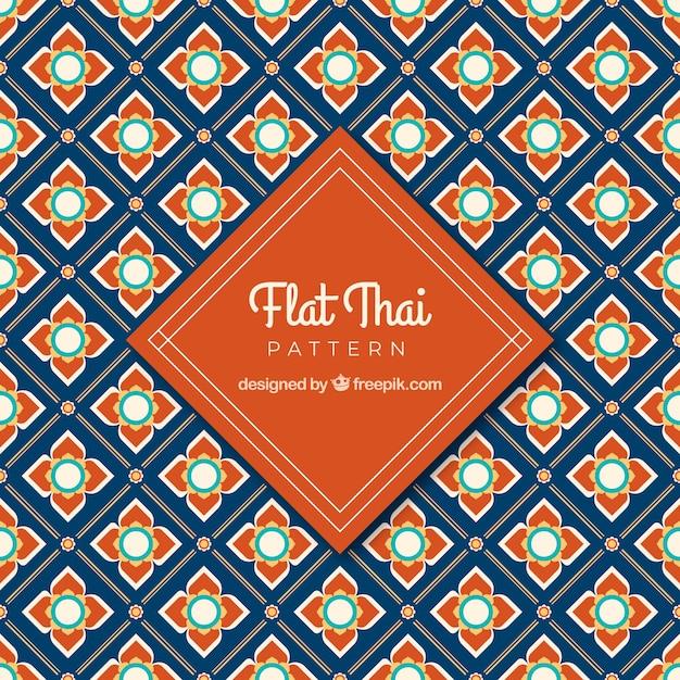 Klassisches thailändisches muster mit flachem design Premium Vektoren