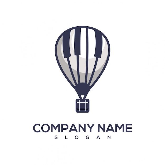 Klavierballon-logo Premium Vektoren