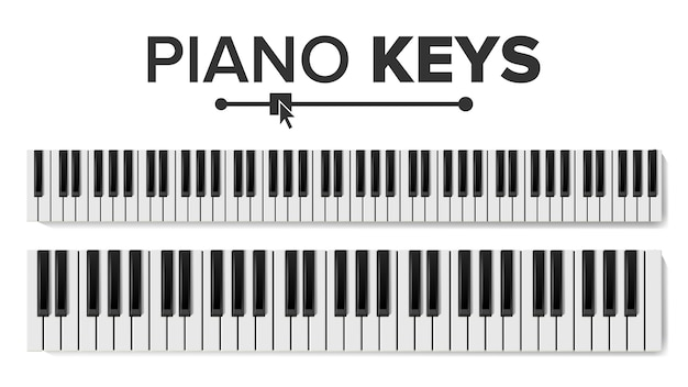 Klaviertastatur Premium Vektoren