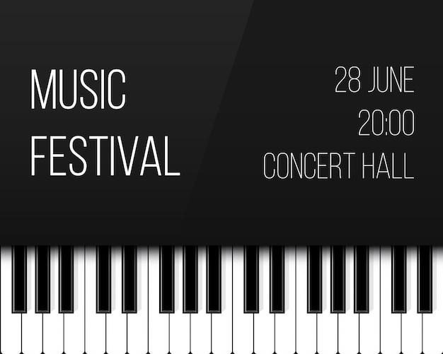 Klaviertasten. jazz live-konzert musik hintergrund. Premium Vektoren