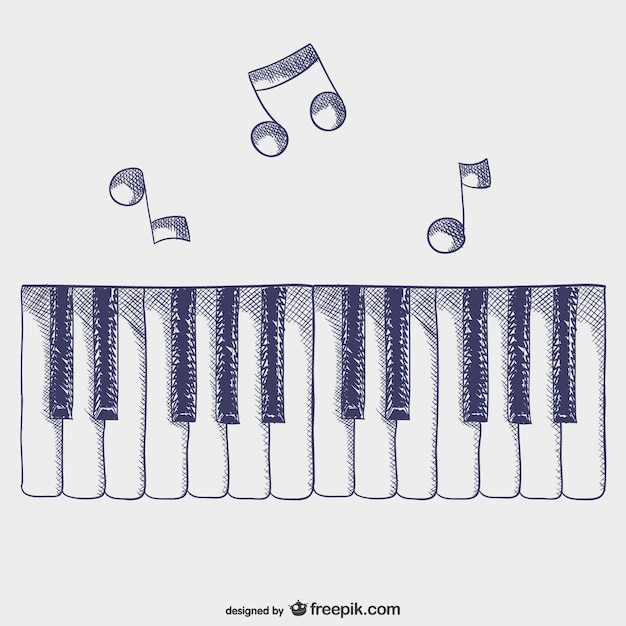Klaviertasten vektor Kostenlosen Vektoren