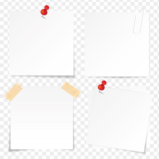 Klebriges papier eingestellt Premium Vektoren